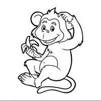 Mono comiendo un plátano