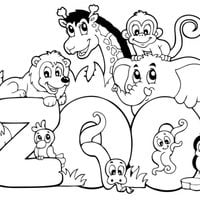 Animales De Zoo Para Colorear Zoo Animal Coloring Pages Ideas