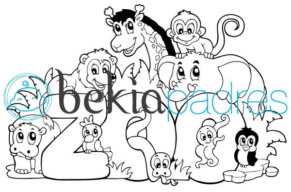 Zoo: dibujo para colorear