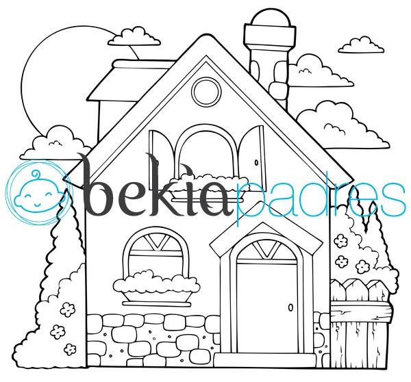 Casa dibujo para colorear - Imagenes de casas para dibujar ...