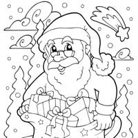 Papá Noel bajo la nieve