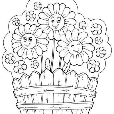 preschool garden flowers coloring pages - photo#18