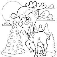 Pequeño reno en Navidad