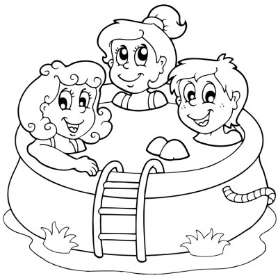 swimming pool safety coloring pages - photo#27