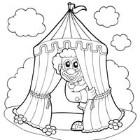 Payaso en el circo