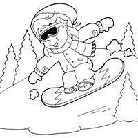 Snowboarding en la nieve