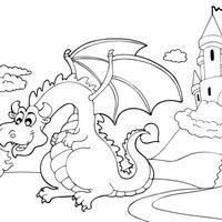 Castillo y dragón