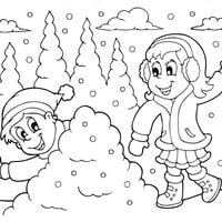 Lanzando bolas de nieve