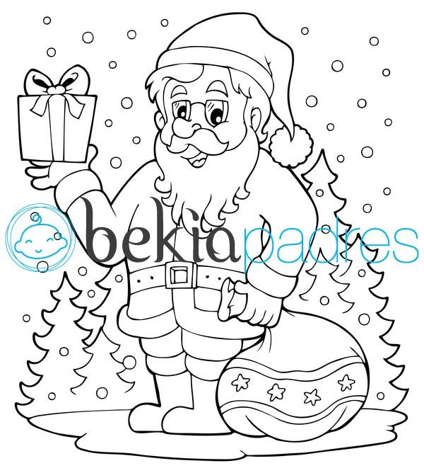 Santa Claus: dibujo para colorear