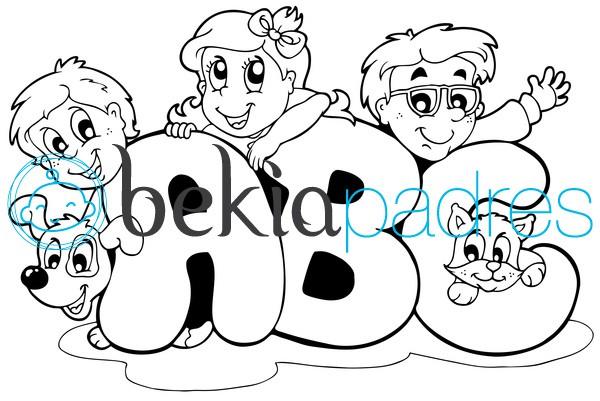 ABC: dibujo para colorear