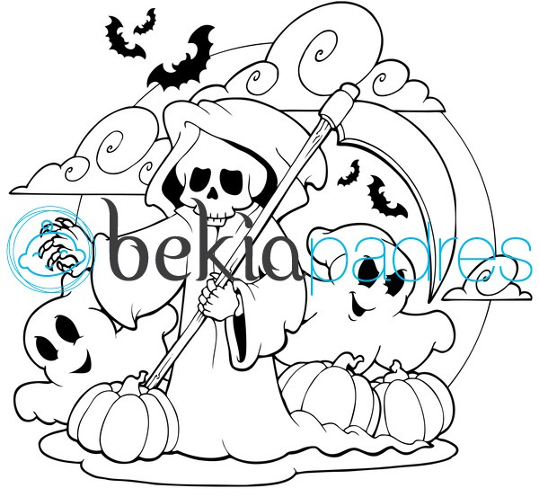 Muerte y fantasmas para colorear