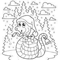 Serpiente navideña