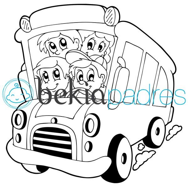 Autobús escolar: dibujo para colorear