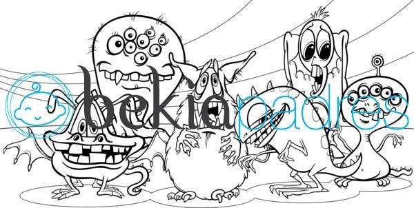 Monstruos de Halloween para colorear