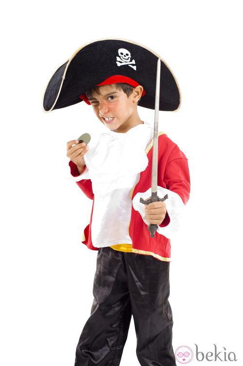 Disfraz de pirata para Halloween de niño