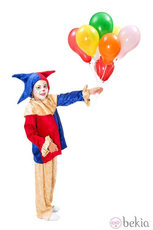 Disfraz de bufón para niños