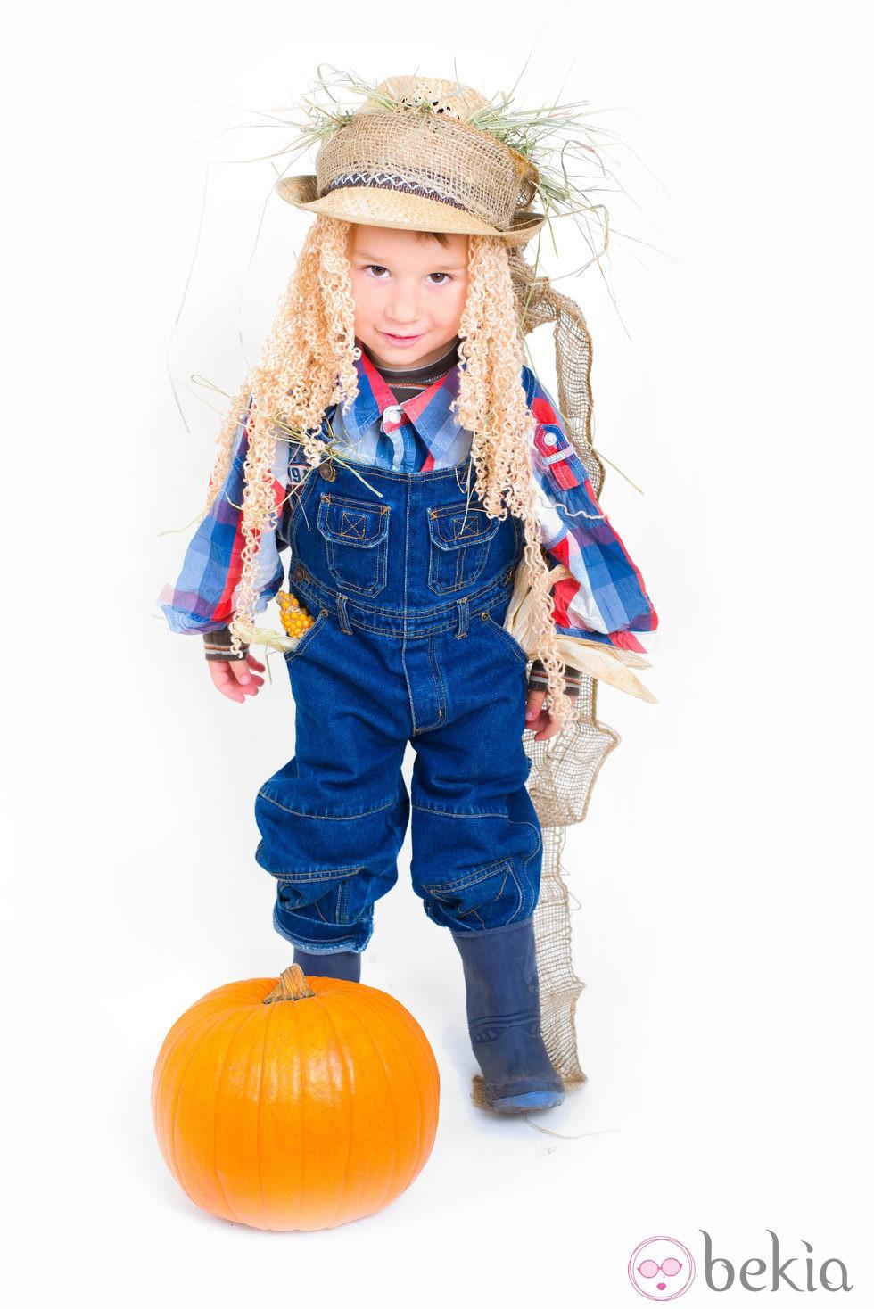 Disfraz de granjero de calabazas de halloween disfraces - Disfraces halloween calabaza para ninos ...