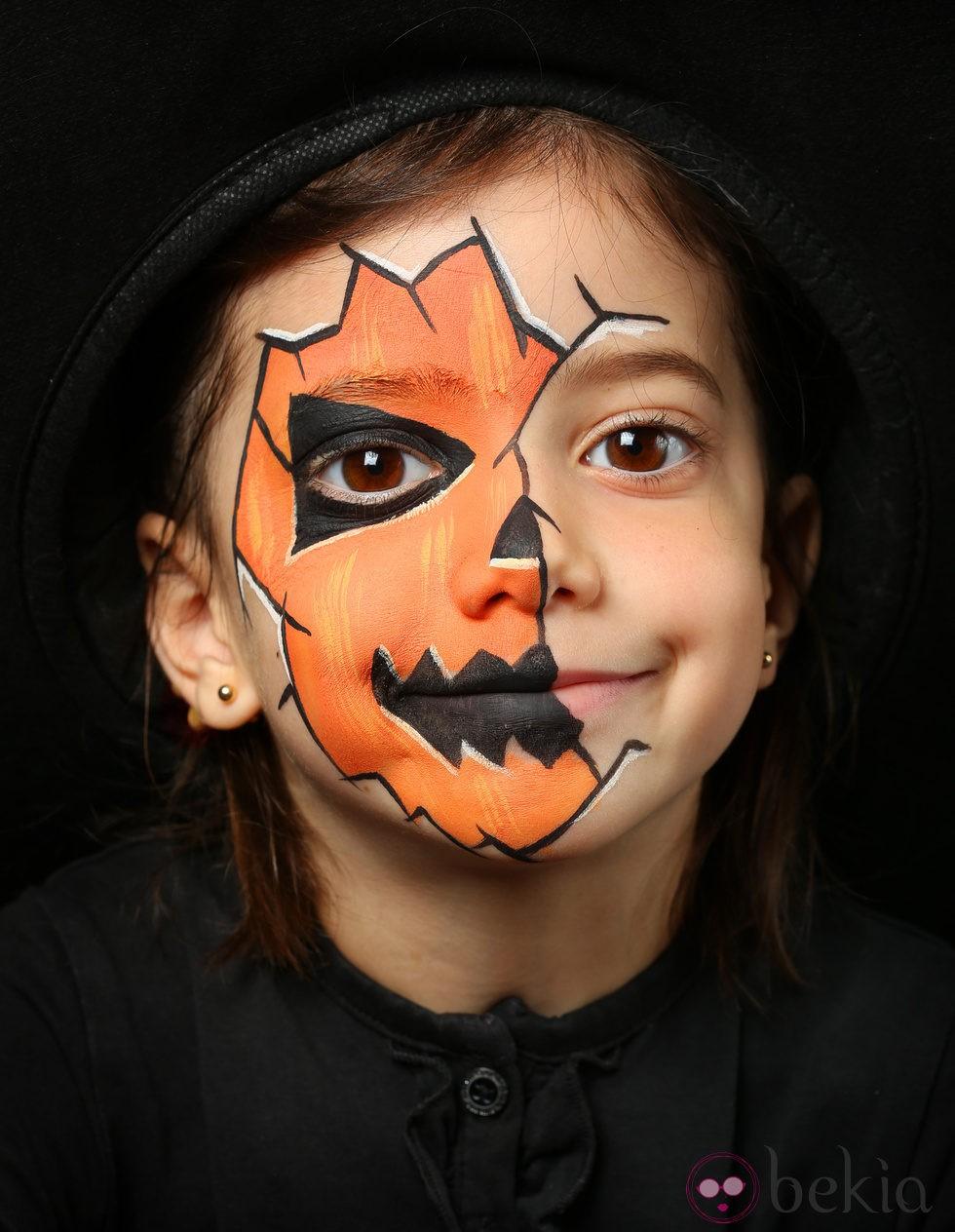Maquillaje de calabaza de halloween maquillaje de - Calabazas de halloween de miedo ...