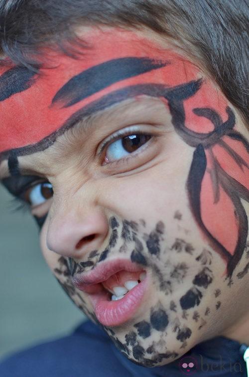 Maquillaje de Rambo para Halloween