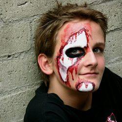 Maquillaje de herido para Halloween