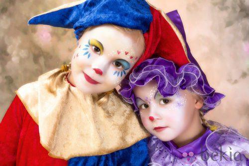 Maquillaje de bufón o arlequín para Halloween