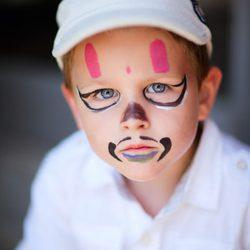 Maquillaje de mosquetero diabólico de Halloween