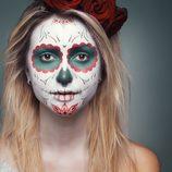 Maquillaje de la calavera de colores de Halloween