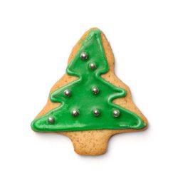 Galleta con forma de árbol de Navidad