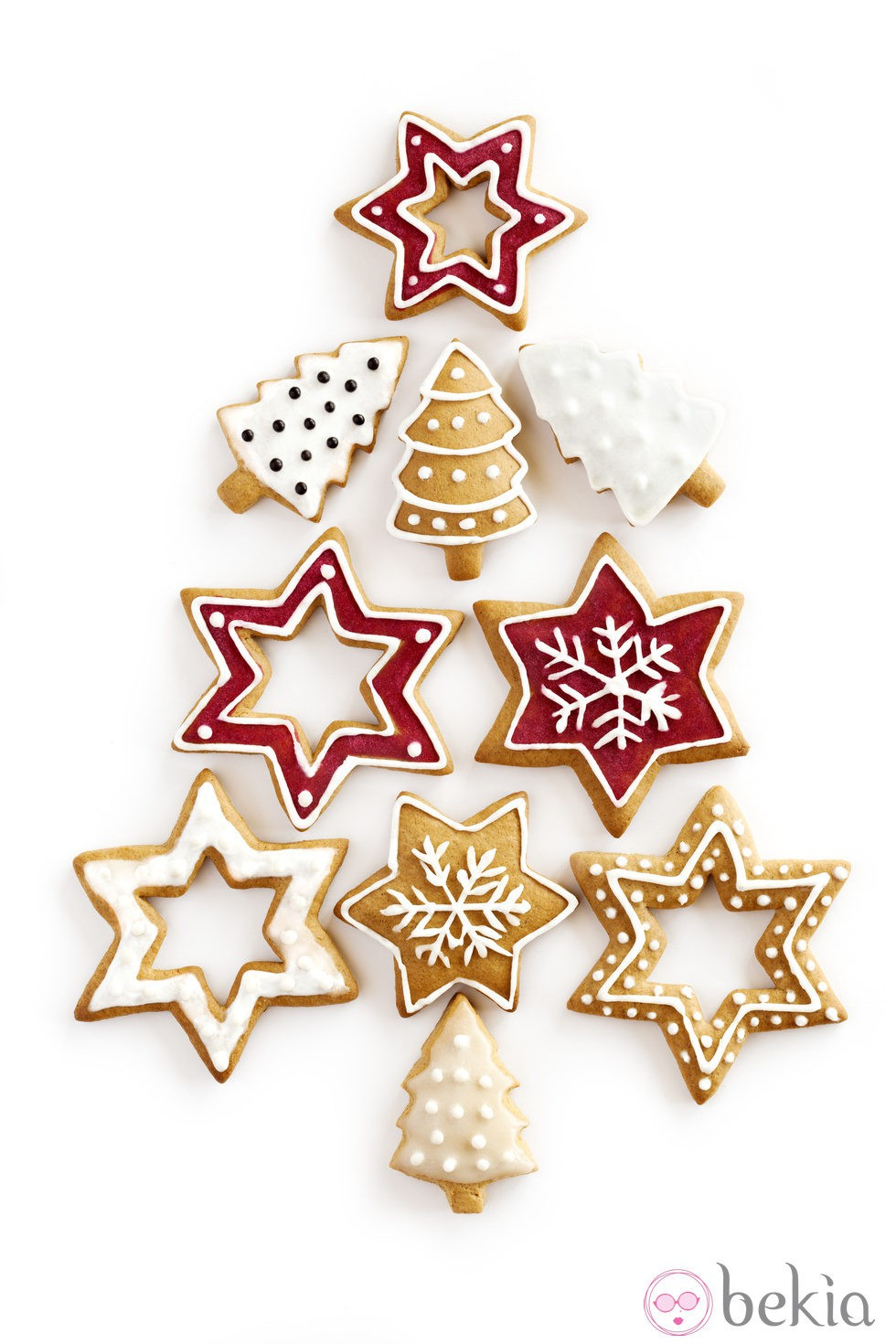 Rbol de navidad de galletas ideas para decorar galletas - Ideas para decorar estrellas de navidad ...