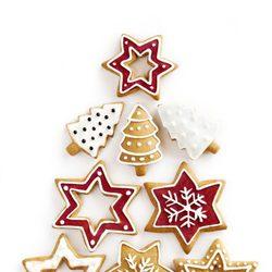 Árbol de Navidad de galletas