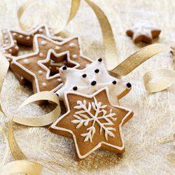 Galletas de estrellas de Navidad