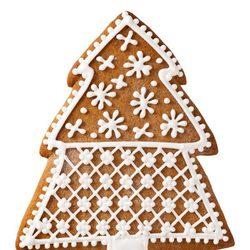 Galleta de árbol de Navidad con estrellas