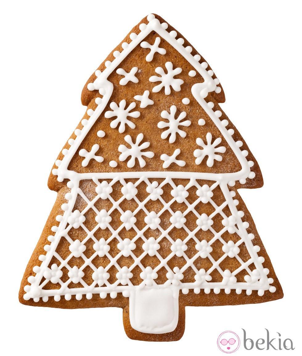 anterior galleta de rbol de navidad con estrellas