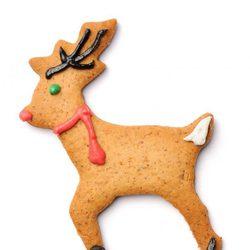 Galleta de Navidad con forma de reno