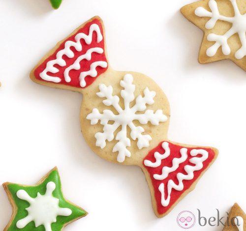 Galleta de Navidad con forma de caramelo