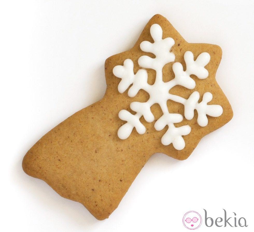 Galleta con forma de estrella fugaz ideas para decorar for Estrella fugaz navidad