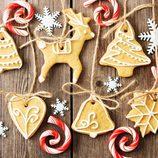 Galletas de Navidad para colgar en el árbol
