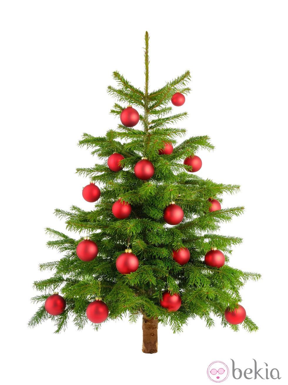 rbol de navidad decorado con bolas rojas ideas para ForArbol De Navidad Con Bolas Rojas